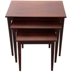 Rosewood Nesting Tables, 1950s, Set of Danish Mid-Century Modern Nested Tables