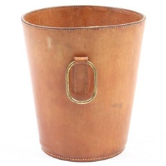 Waste Bin in Patinated Leather Made for Illums Bolighus
