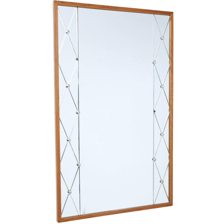 Mid-20th Century Teak Frame Mirror