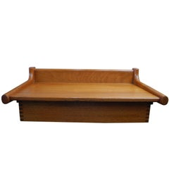 Danish-Modern Teak Floating Bedside Shelf and Drawer by Børge Mogensen