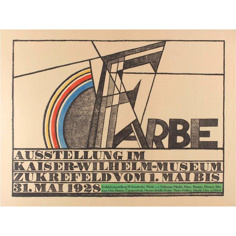 Original Vintage 1928 Avant Garde Art Exhibition Poster - Kandinsky Picasso Klee