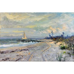 'Along the Gulf' Florida Impressionism by Robert C. Gruppe, American