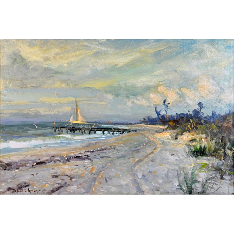 'Along the Gulf' Florida Impressionism by Robert C. Gruppe, American For Sale