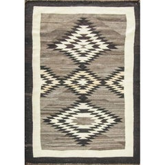 Navajo Natural Rug with Star Motifs, circa 1900