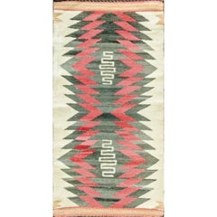 Rare Double Saddle Navajo Rug