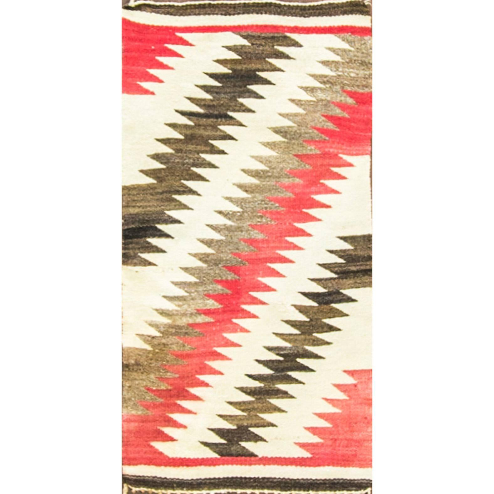 "Navajo Saddle Rug Germantown Design, 20"" x 39"""