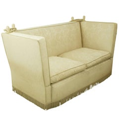 Antique Knole Sofa, Sofa With Drop Down Sides, Edwardian, c. 1910