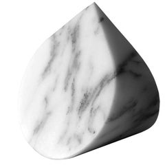 Paperweight in Arabescato Corchia Marble Designed by Michael Anastassiades