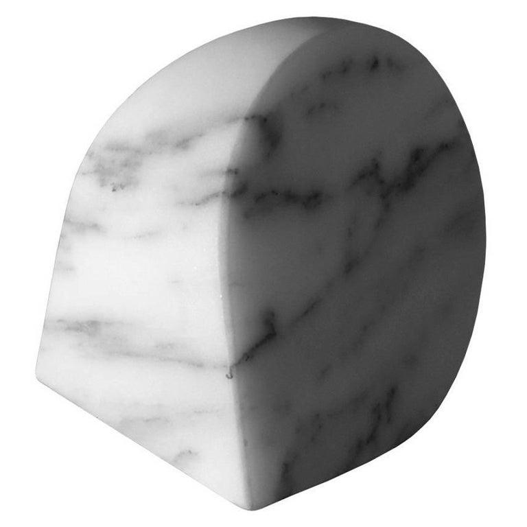 Salvatori Paperweight B in Arabescato Corchia Designed by Michael Anastassiades