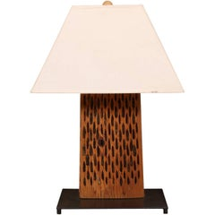 Table Lamp Made from a Threshing Board