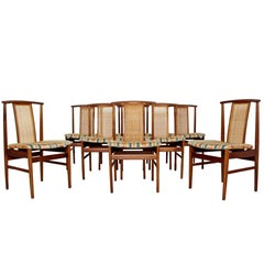 Mid-Century Modern Folke Olsson for DUX Set of Eight Side Dining Chairs, 1960s