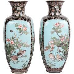 Pair of Meiji Period Cloisonne Vases