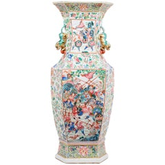 Large 19th Century Chinese Canton or Rose Medallion Vase