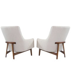 "Jens Risom ""A-Line"" Lounge Chairs, Model #2136"
