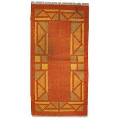 Handmade Vintage Persian Gabbeh Kilim Rug, 1970s
