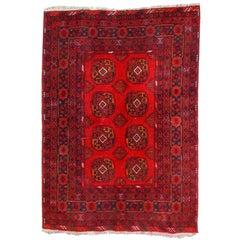 Handmade Vintage Afghan Ersari, 1970s