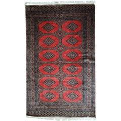 Handmade Vintage Uzbek Bukhara Rug, 1970s, 1C474