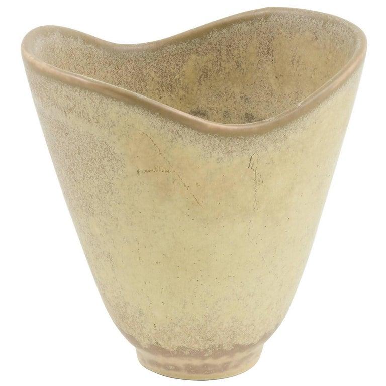 Carl Harry Stalhane Stoneware Vase for Rörstrand, Sweden, 1950s For Sale