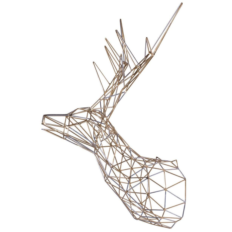 Gold Deer Iron Sculpture