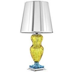 Tiepolo Lamp in Yellow and Aquamarine