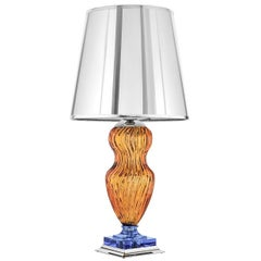 Tiepolo Lamp in Amber and Blue