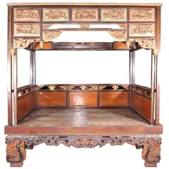 19th Century Chinese Canopy Wedding Bed