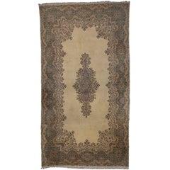 Vintage Persian Kerman Rug with Traditional Style, Kirman Gallery Rug