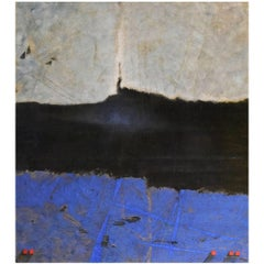 "Pascal Bost ""Profondeur Noire-Bleue"", 2008 Abstract Painting"