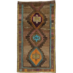 Vintage Turkish Oushak Runner with Modern Contemporary Style, Oushak Gallery Rug