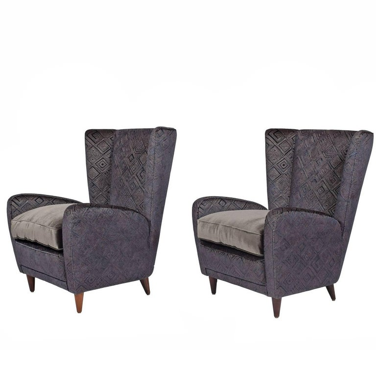Easy Chairs by Paolo Buffa from the Bristol Hotel For Sale
