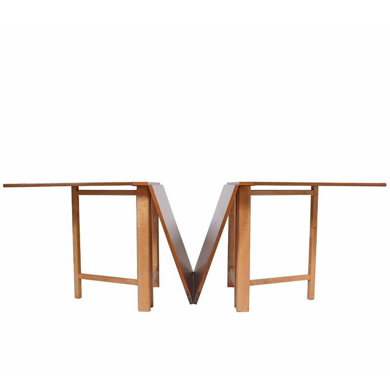 Signed Bruno Mathsson 'Maria' Expandable Dining Table for Karl Mathsson, 1961