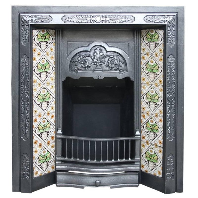 Small Restored Reclaimed Victorian Fireplace Insert At 1stdibs