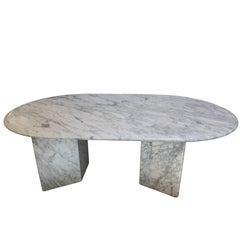 Carrara Marble Oval Table