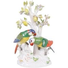 19th Century Meissen Parrots