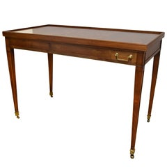 Louis XVI Style Walnut Game Table with Reversible Top
