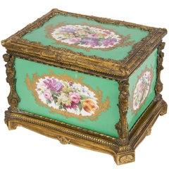 Sevres Style 19th Century Porcelain Casket