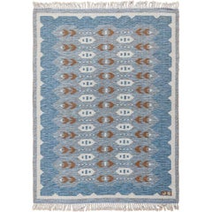 Double Sided Vintage Scandinavian Rug. Size: 4 ft 6 in x 6 ft (1.37 m x 1.83 m)