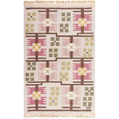 Flat Weave Geometric Scandinavian Rug by Ulla Brandt