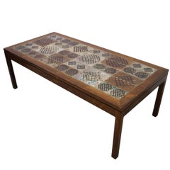 Tue Poulsen Tile Rosewood Coffee Table, Denmark, 1960s