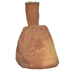 Mid-Century Modern Pottery Ceramic Vase Signed Set Spoon