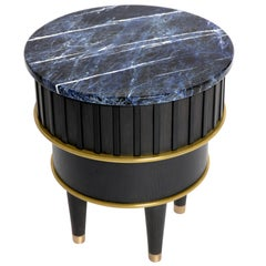 Sodalite and Corian 'Greta' Side Table by Felice James Limited Edition