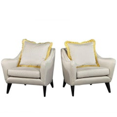 Pair of Dove Gray Lounge Chairs