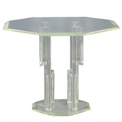 Vintage Lucite Center Hall Table