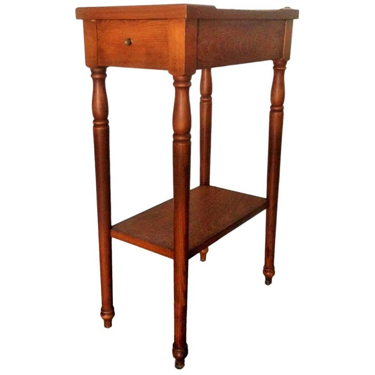 20th Century Rare High Top Auxiliar Spanish Side Table with Drawer