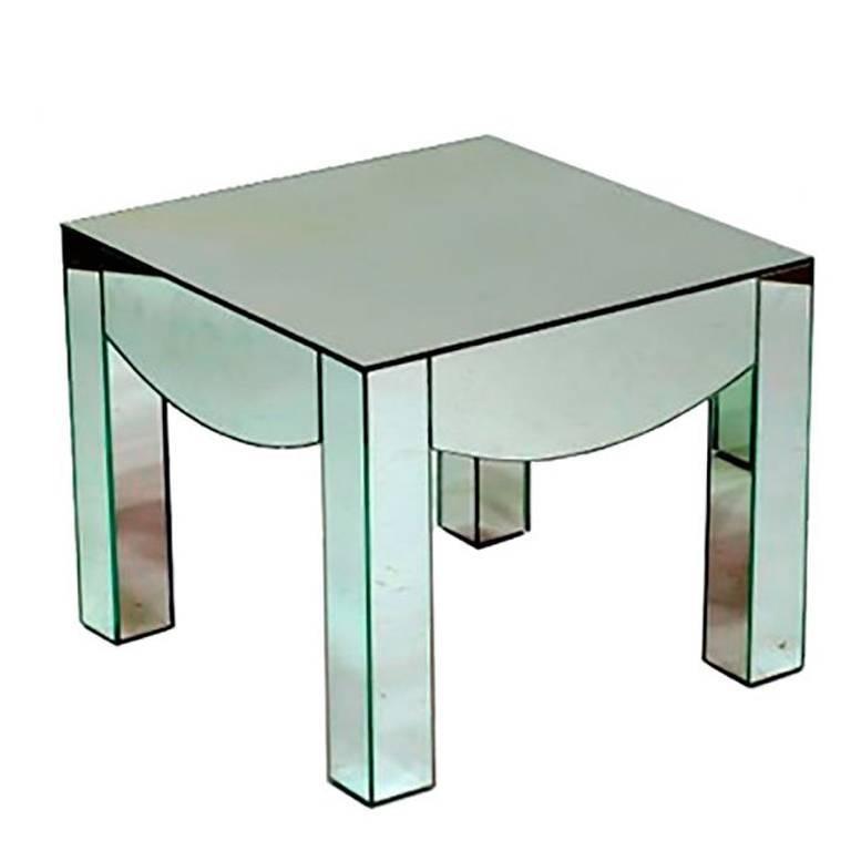 1970s Vintage Mirror Side Table