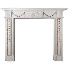 Irish Georgian Marble Fireplace
