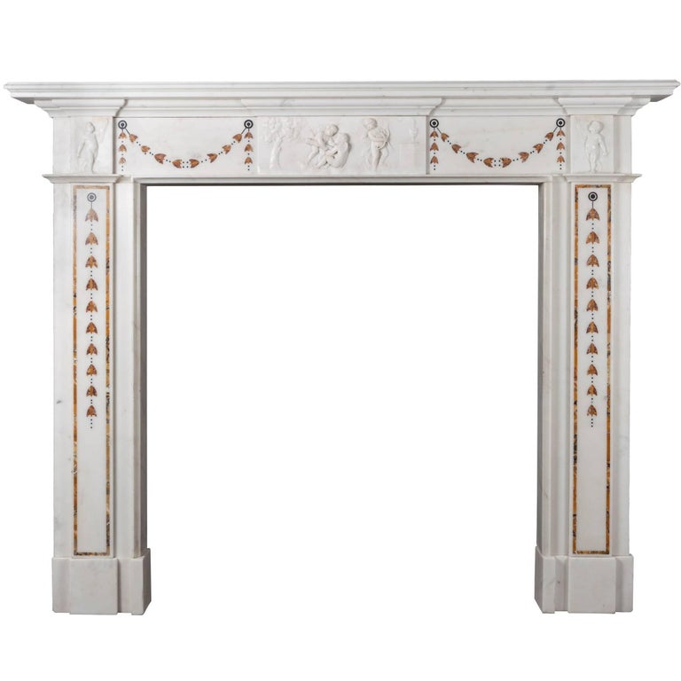 Irish georgian marble fireplace for sale at 1stdibs for Marble mantels for sale