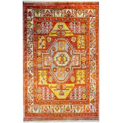 Wonderful Vintage Turkish Konya Rug