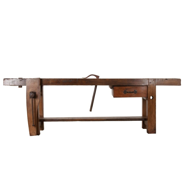 19th Century Workbench from Burgundy, France