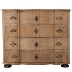 Swedish 19th Century Bleached Oak Chest